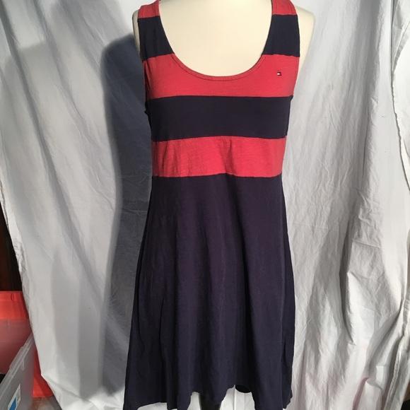 Tommy Hilfiger Dresses & Skirts - Tommy Hilfiger red and navy blue striped dress